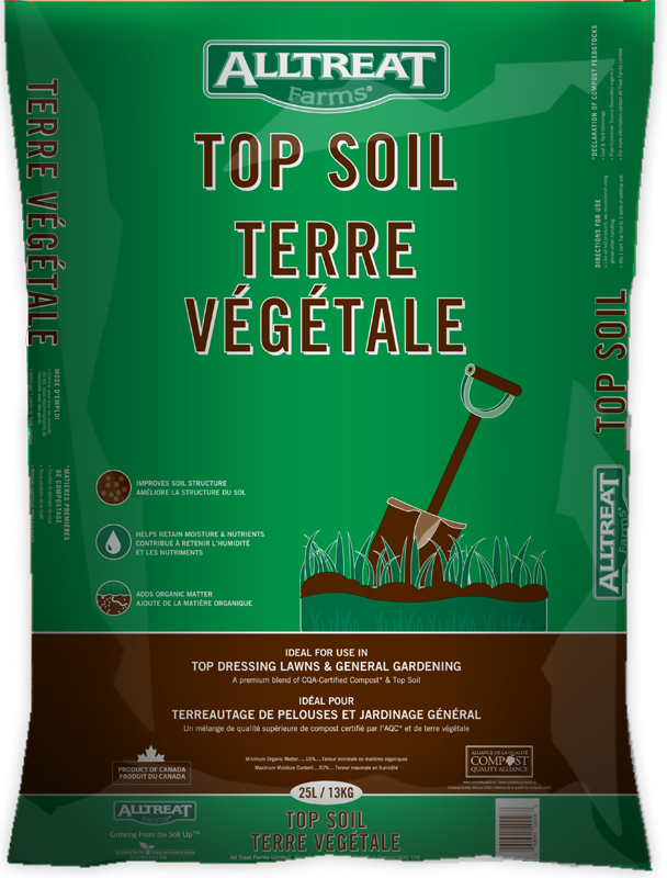 All Treat Farms Top Soil Is A Premium Blend Of Cqa Certified Compost And This Will Help Retain Moisture Nutrients Improve